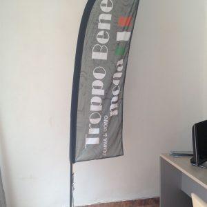 bandera exterior en tela a doble cara